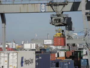 Contargo Germany port with cargo containers