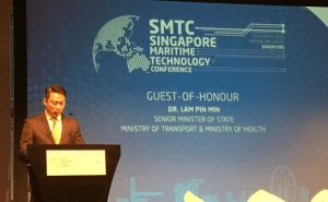 Dr. Lam Pin Min, senior minister of state, ministry of transport and ministry of health, singapore maritime technology conference