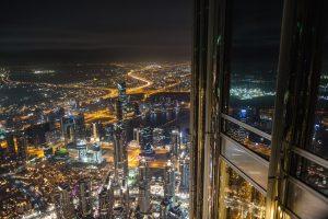 dubai city light up at night