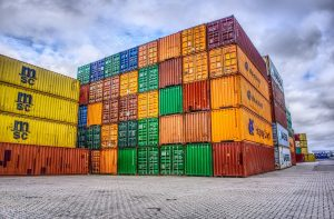 stack of containers from MSC and Hapag Lloyd