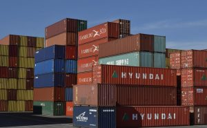 stacks of containers in various colours