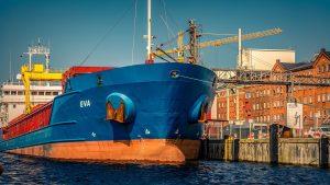 Eva bulk carrier next to city