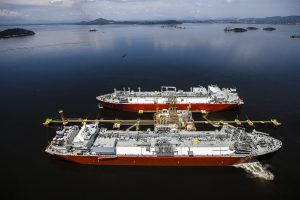 gas vessel tanker at sea