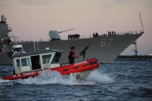US coast guard on patrol