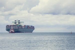 cargo container ship in sea day time
