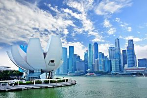 marina bay art science museum, singapore cbd, singapore river