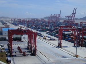 Shanghai Yangshan port with containers