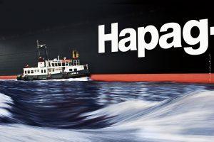 Hapag Lloyd with small ship