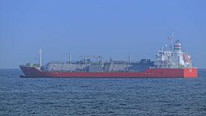 tanker vessel at sea