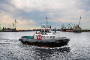 hydrogen powered tugboat debut at port of Antwerp