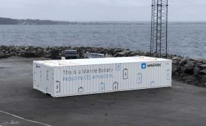 Maersk marine battery reducing CO2 emissions