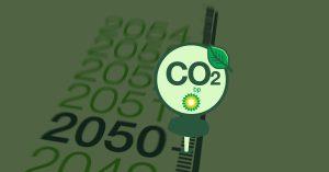 bp net zero carbon emission neutral 2050 pin leaf