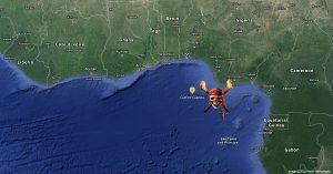 gulf of guinea map pirate piracy zone area danger