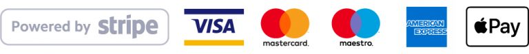 visa mastercard maestro American Express apple pay stripe payment acceptance