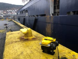 DNV GL's remote in-water ship surveys using ROV is a world first