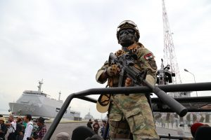 Kopaska is the special forces units of Indonesian Navy army, Ujung harbor, Surabaya city - Indonesia