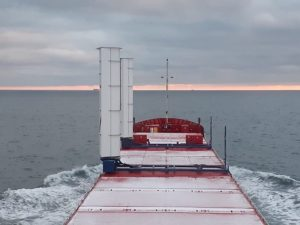 Boomsma installs two wind-assisted propulsion units on cargo vessel