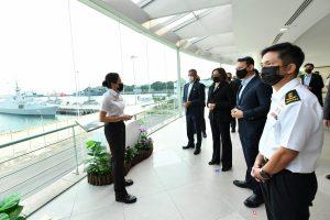 U.S. VP visits Singapore's Changi Naval Base
