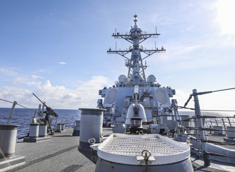 U.S. 7th Fleet conducts freedom of navigation operation in South China Sea