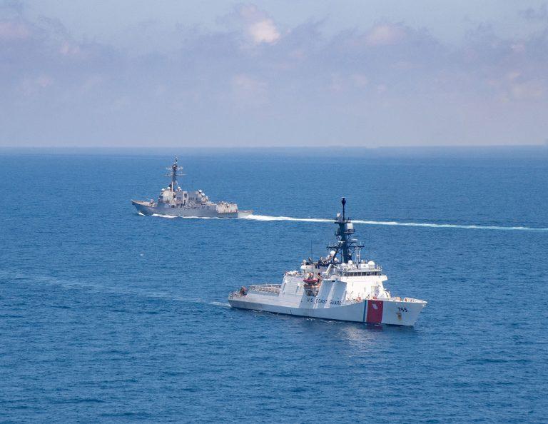 U.S. Navy, Coast Guard transit Taiwan Strait