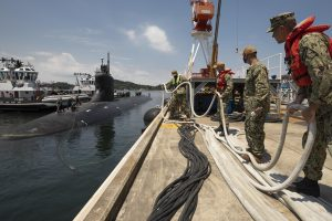 U.S. submarine hit unknown object in South China Sea