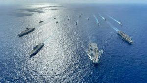 U.S., UK, Japan conduct carrier strike group operations in Philippine Sea