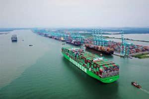 Port of Tanjung Pelepas welcomes Ever Ace, world's largest container vessel