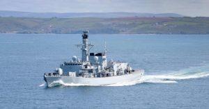 HMS Richmond conducts UN sanctions enforcement against North Korea